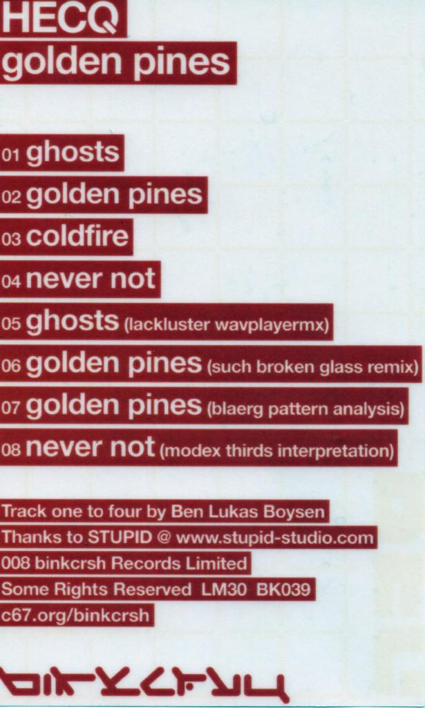 Hecq - Golden Pines